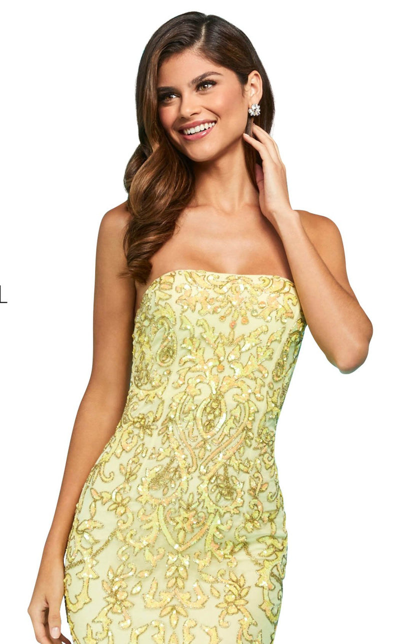 Sherri Hill 53452 Dress Yellow