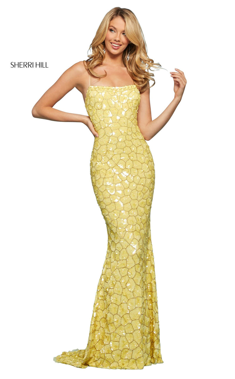Sherri Hill 53456 Dress Yellow