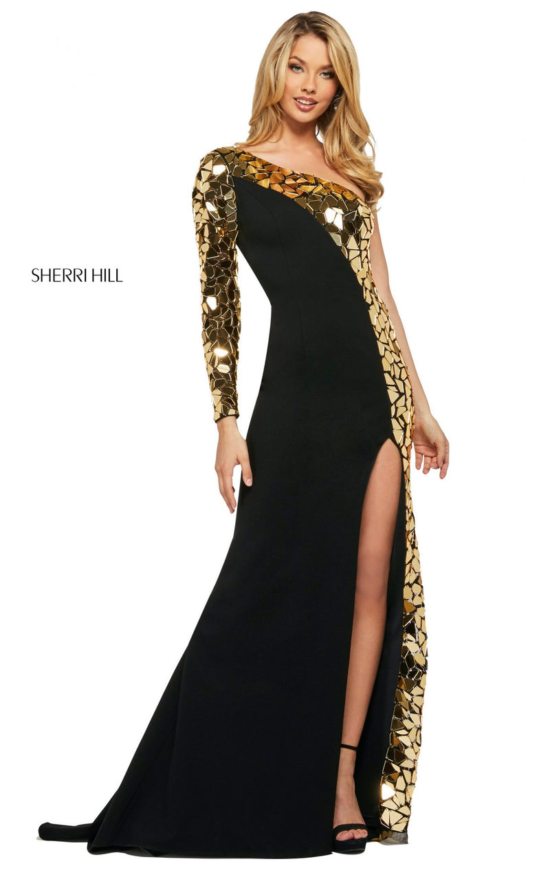Sherri Hill 53467 Dress Black-Gold