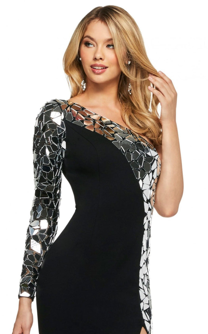 Sherri Hill 53467 Dress Black-Silver