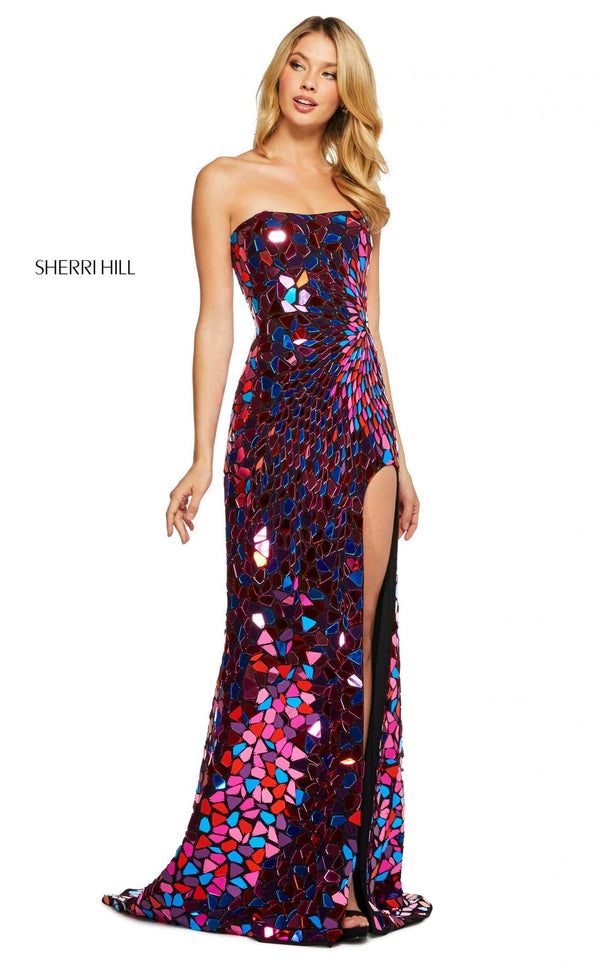 Sherri Hill 53474 Dress Black-Multi