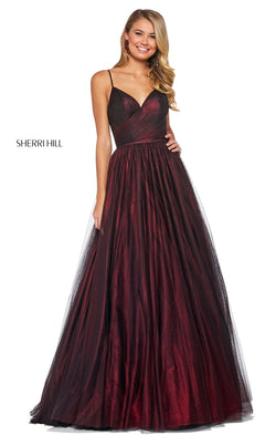 Sherri Hill 53480 Dress Wine