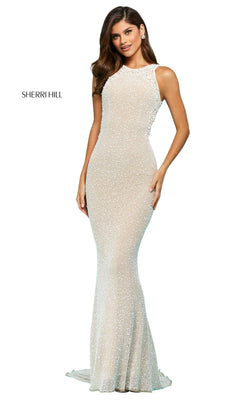 Sherri Hill 53490 Dress Nude-Ivory