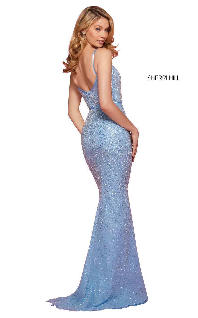 Sherri Hill 53493 Dress Light-Blue