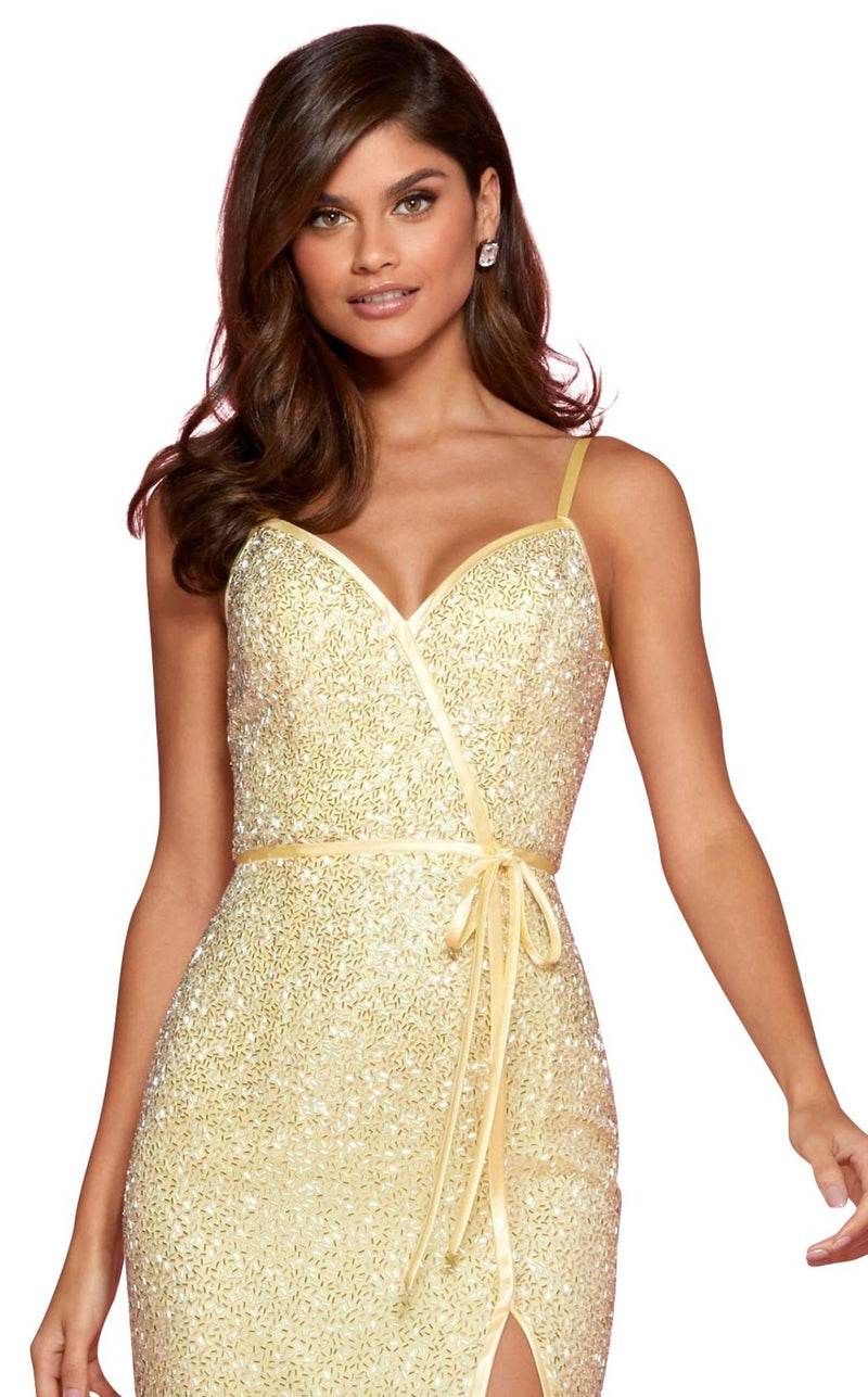 Sherri Hill 53493 Dress Yellow