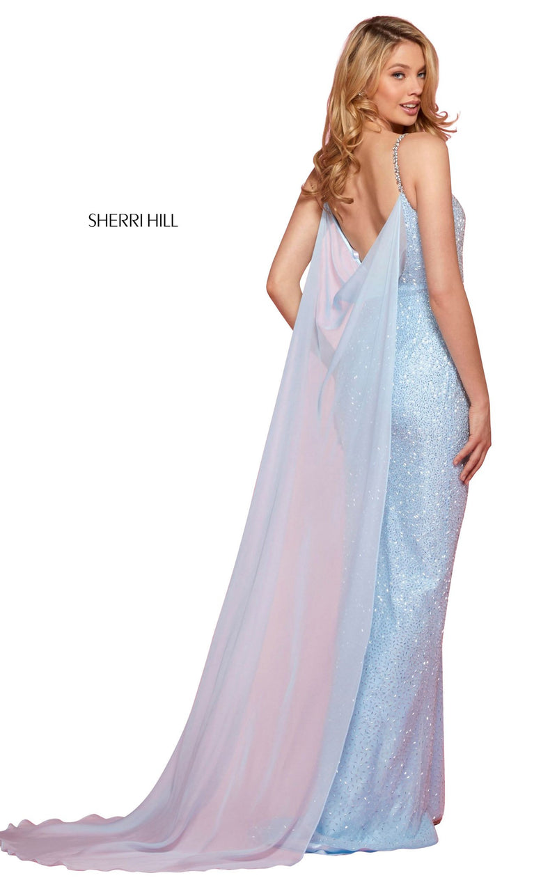 Sherri Hill 53494 Dress Light-Blue-Silver