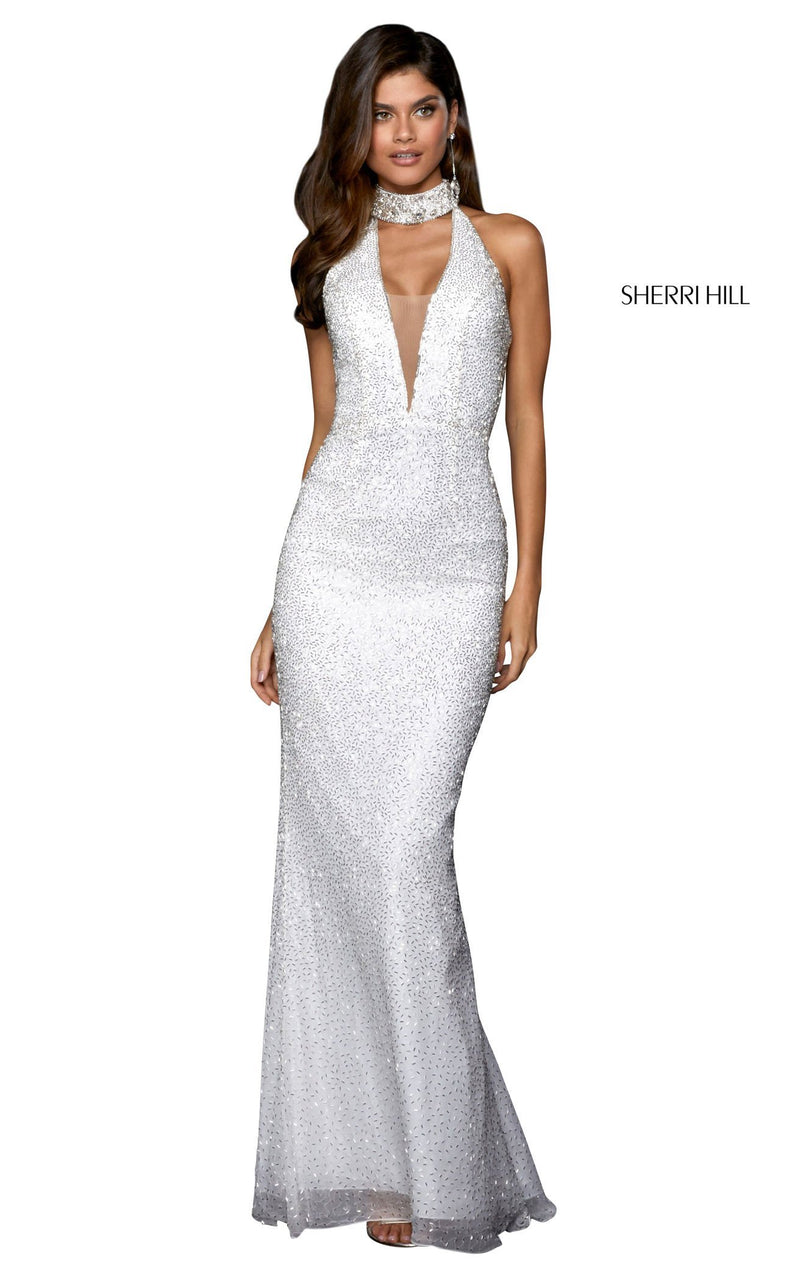 Sherri Hill 53495 Dress Ivory-Silver