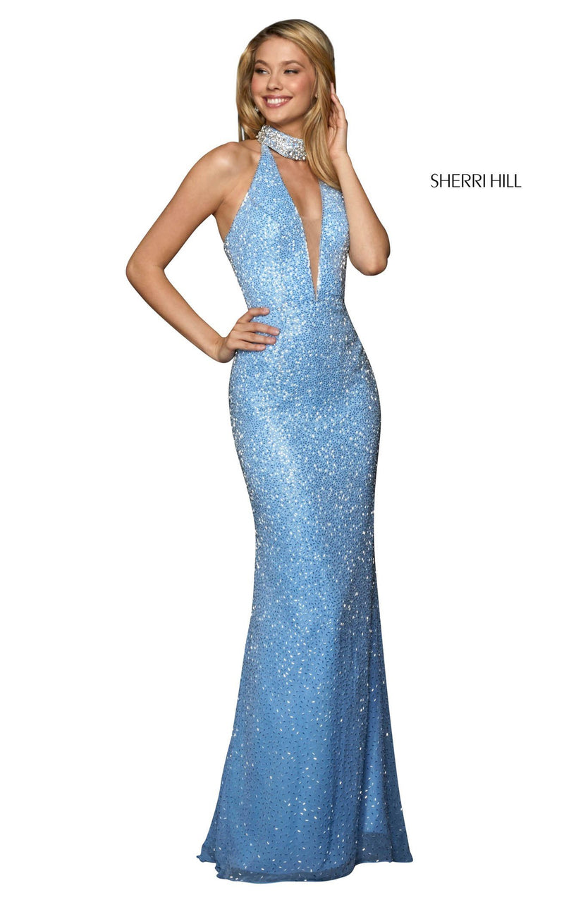 Sherri Hill 53495 Dress Light-Blue-Silver
