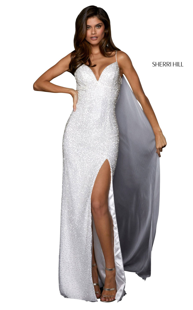 Sherri Hill 53496 Dress Ivory-Silver