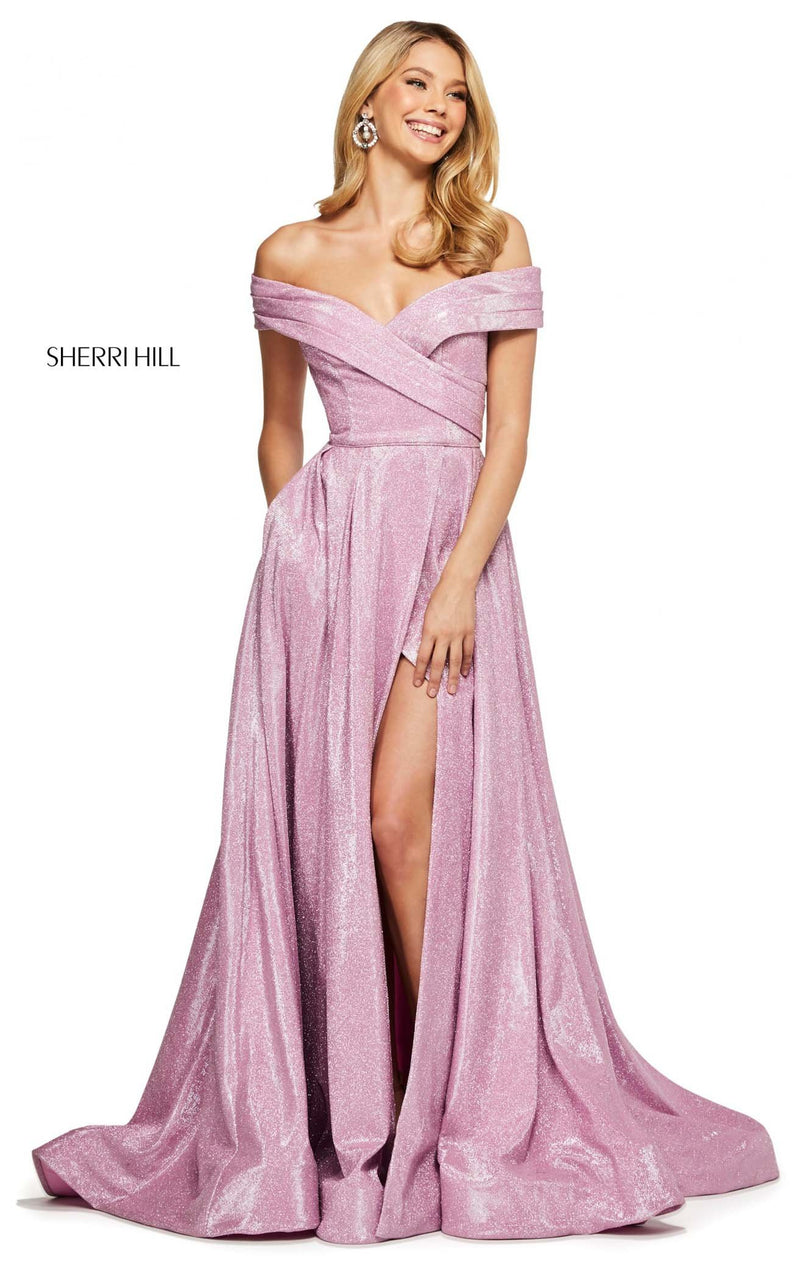 Sherri Hill 53499 Dress Pink-Silver