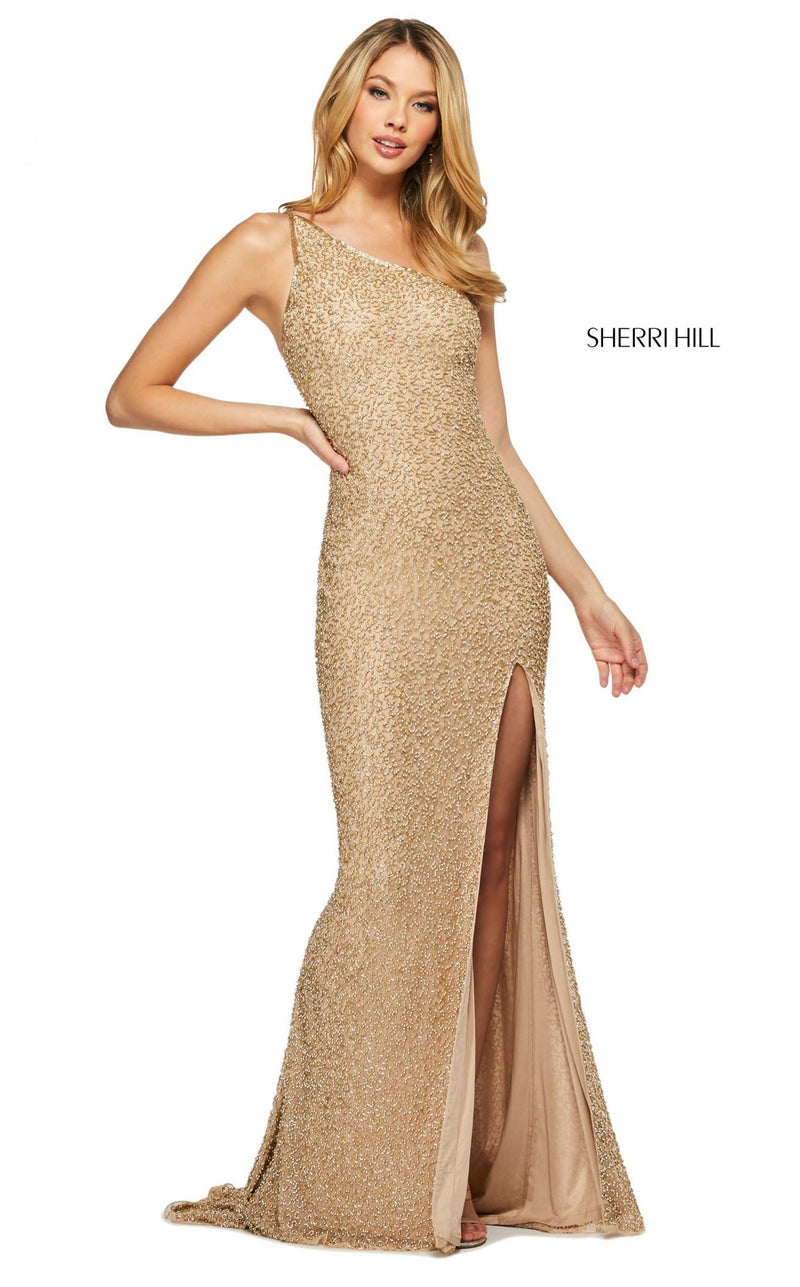 Sherri Hill 53514 Dress Gold