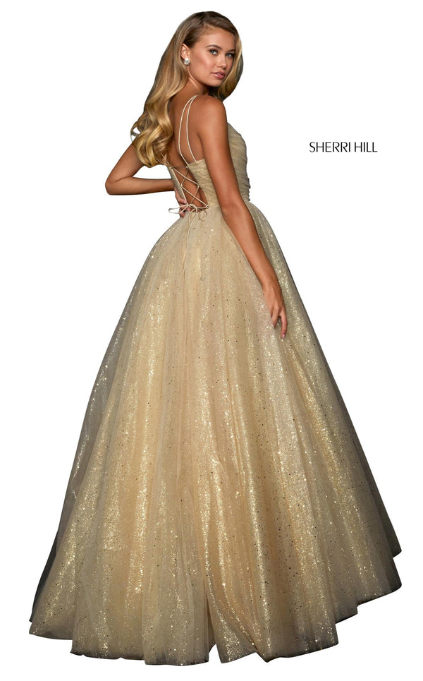 Sherri Hill 53523 Dress Gold