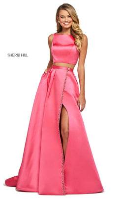 Sherri Hill 53527 Dress Coral
