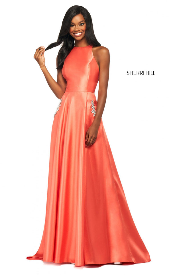 Sherri Hill 53529 Dress Coral
