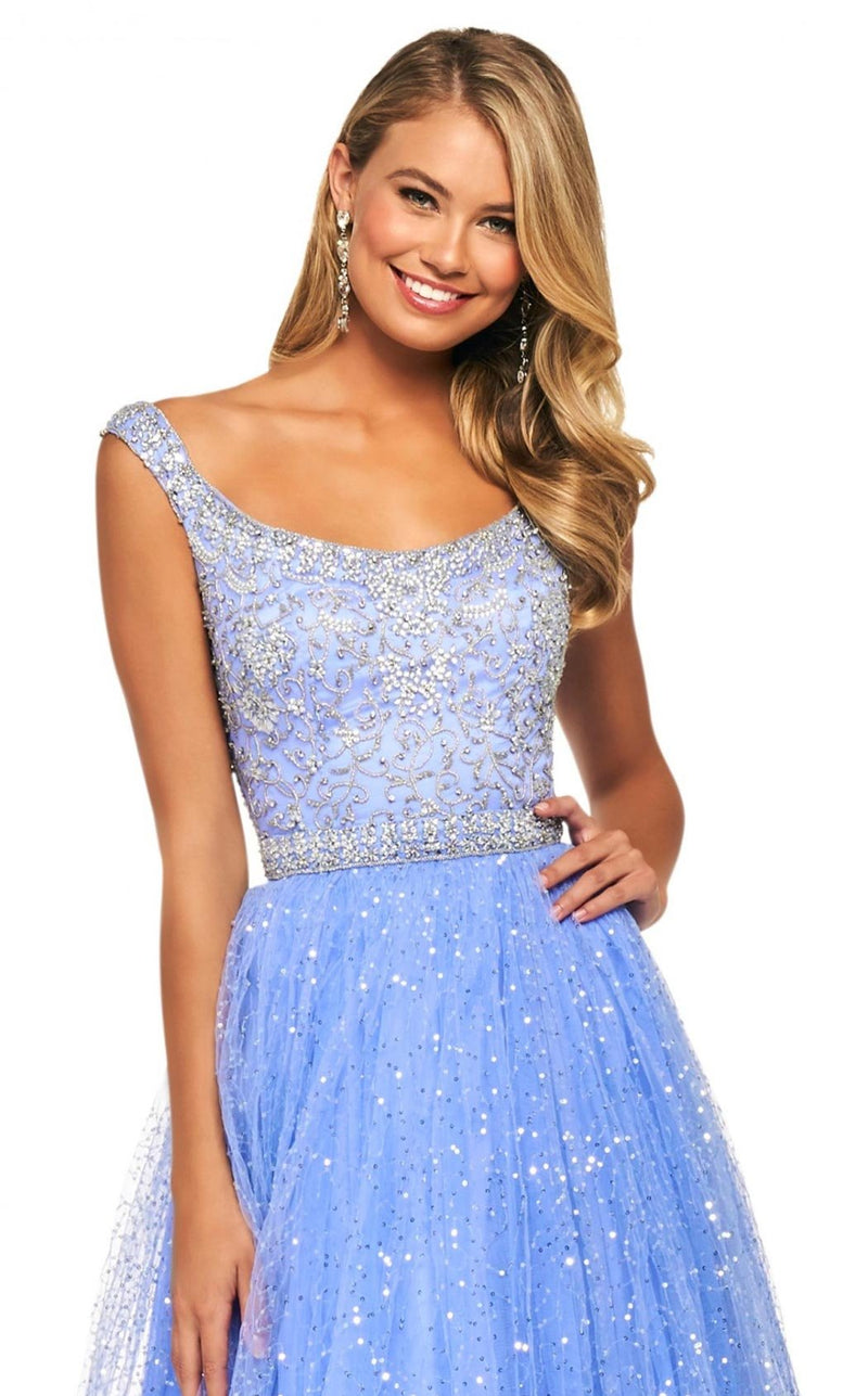 Sherri Hill 53541 Dress Periwinkle-Silver