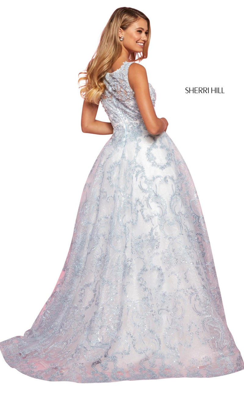 Sherri Hill 53545 Dress Ivory-Blue