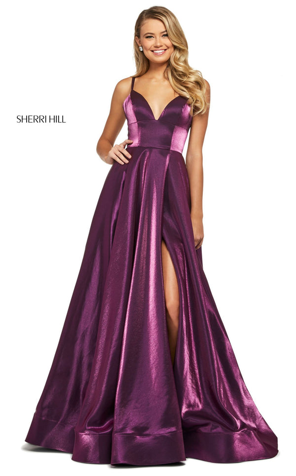 Sherri Hill 53548 Dress Dark-Purple