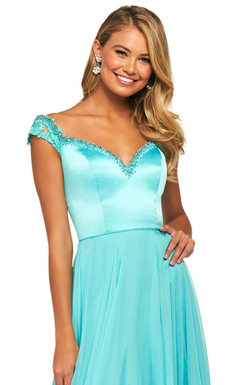 Sherri Hill 53549 Dress Aqua