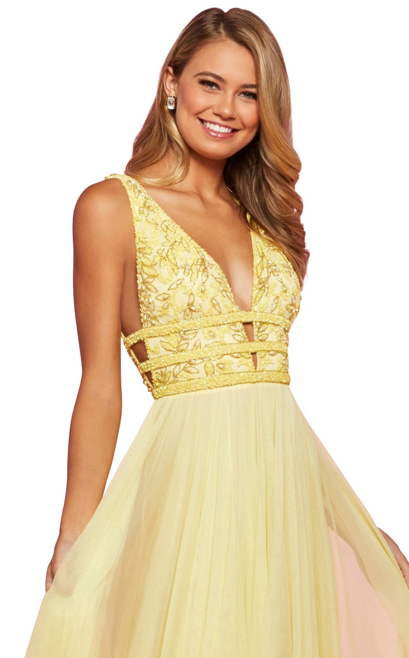 Sherri Hill 53551 Dress Yellow