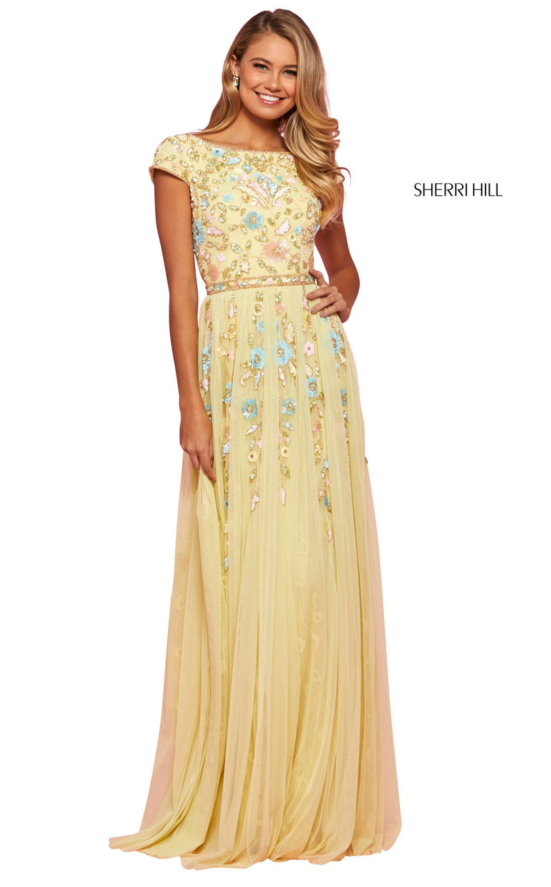 Sherri Hill 53555 Dress Yellow-Multi