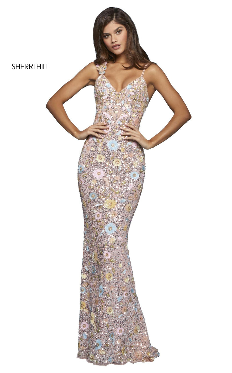 Sherri Hill 53558 Dress Blush-Multi