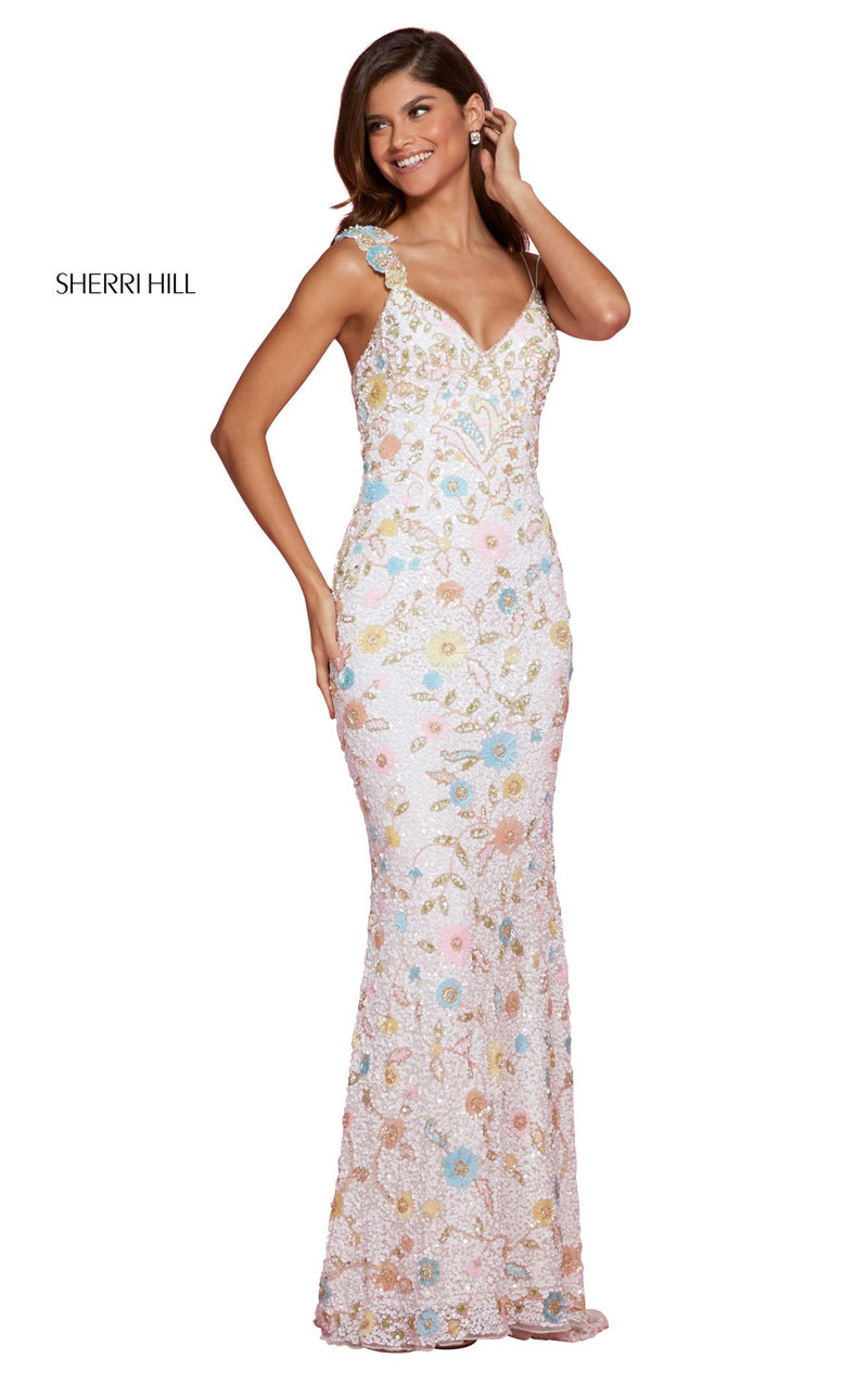 Sherri Hill 53558 Dress Ivory-Multi