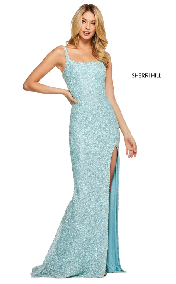 Sherri Hill 53569 Dress Light-Blue