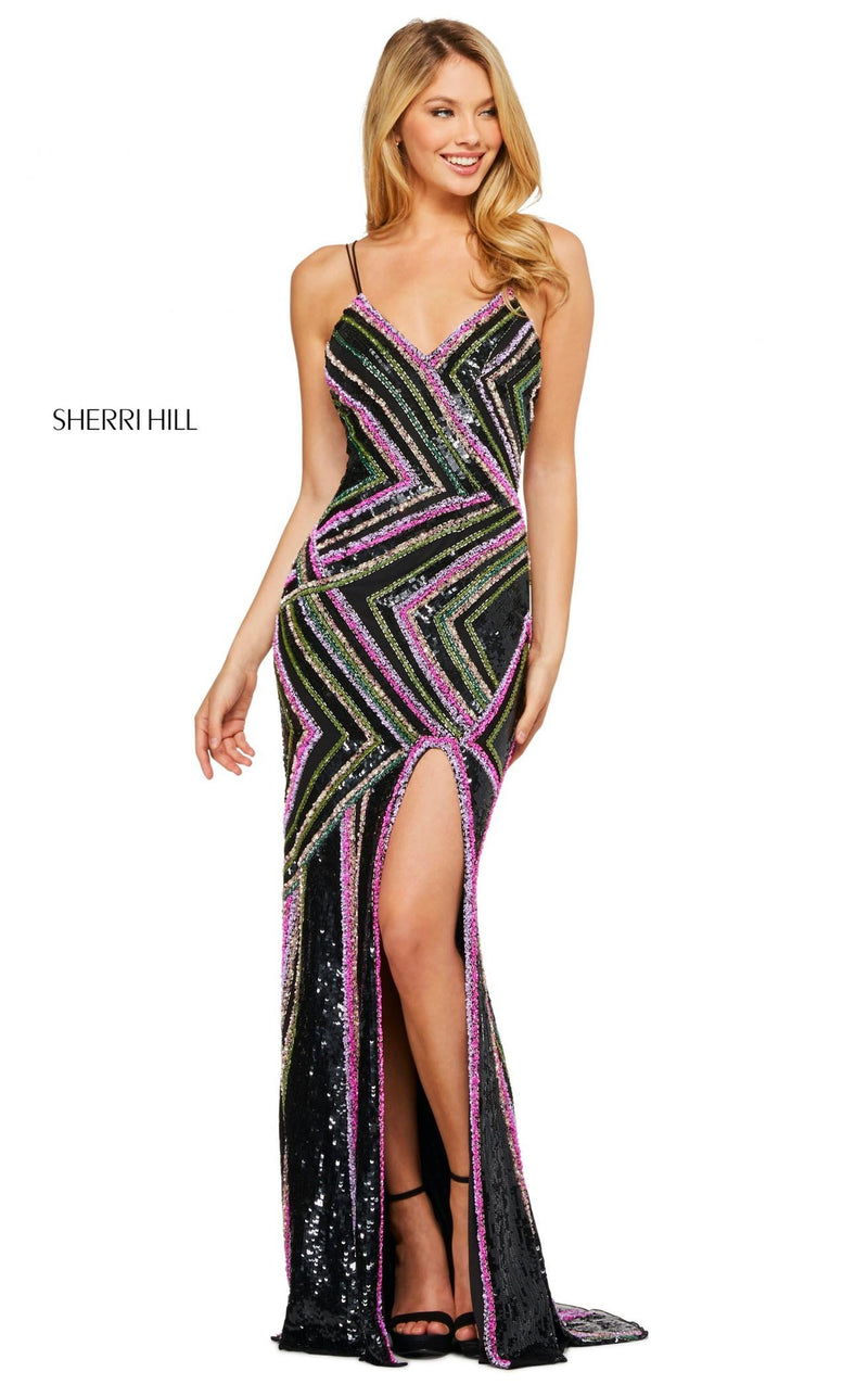 Sherri Hill 53572 Dress Black-Multi