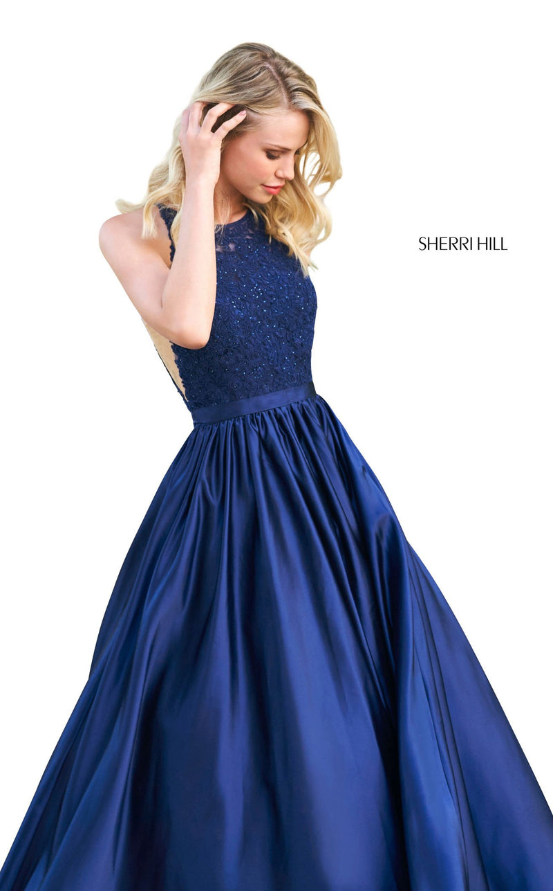 Sherri Hill 53573 Dress Navy