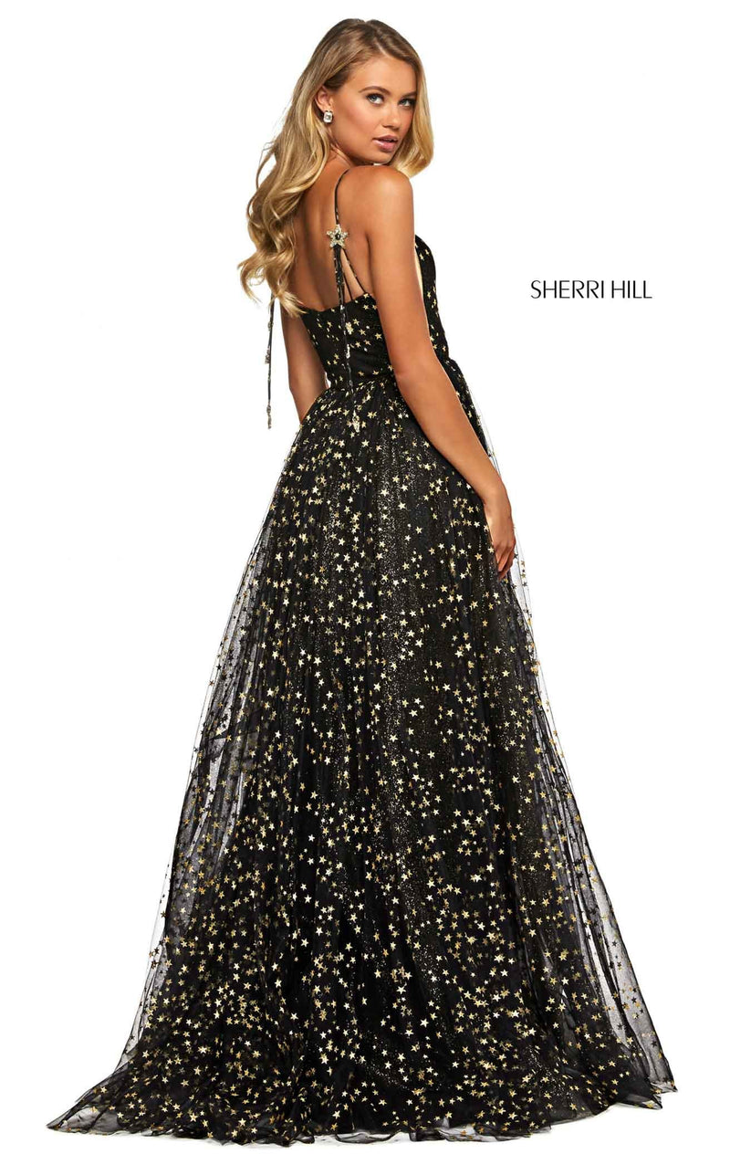 Sherri Hill 53583 Dress Black-Gold