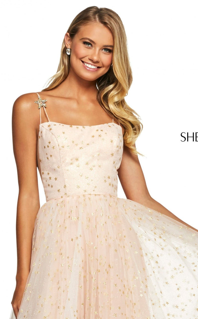 Sherri Hill 53583 Dress Blush-Gold