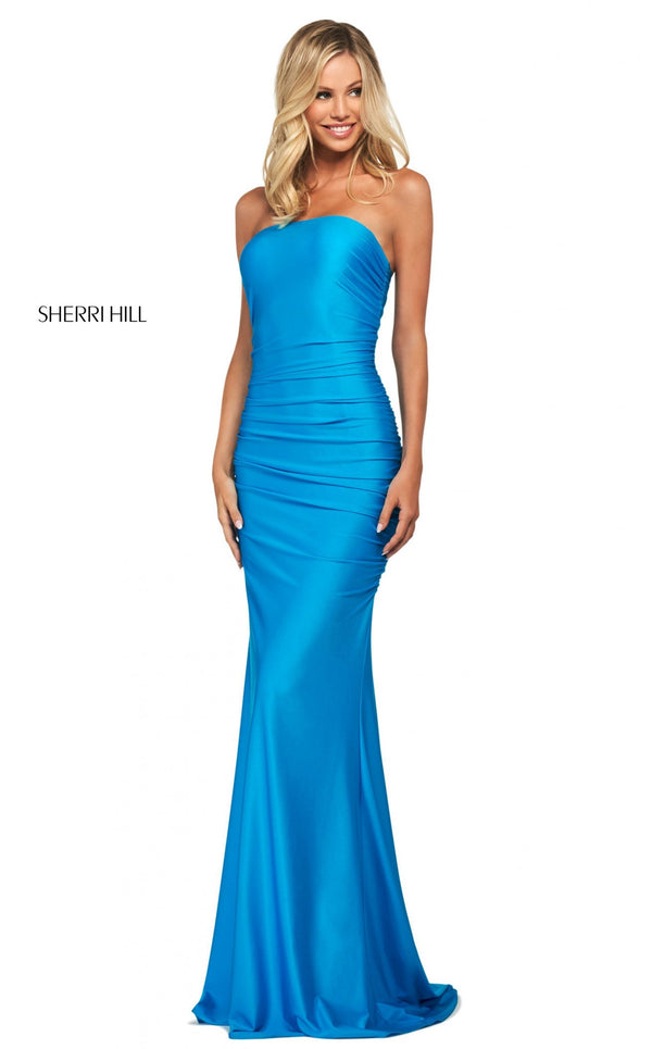 Sherri Hill 53596 Dress Peacock