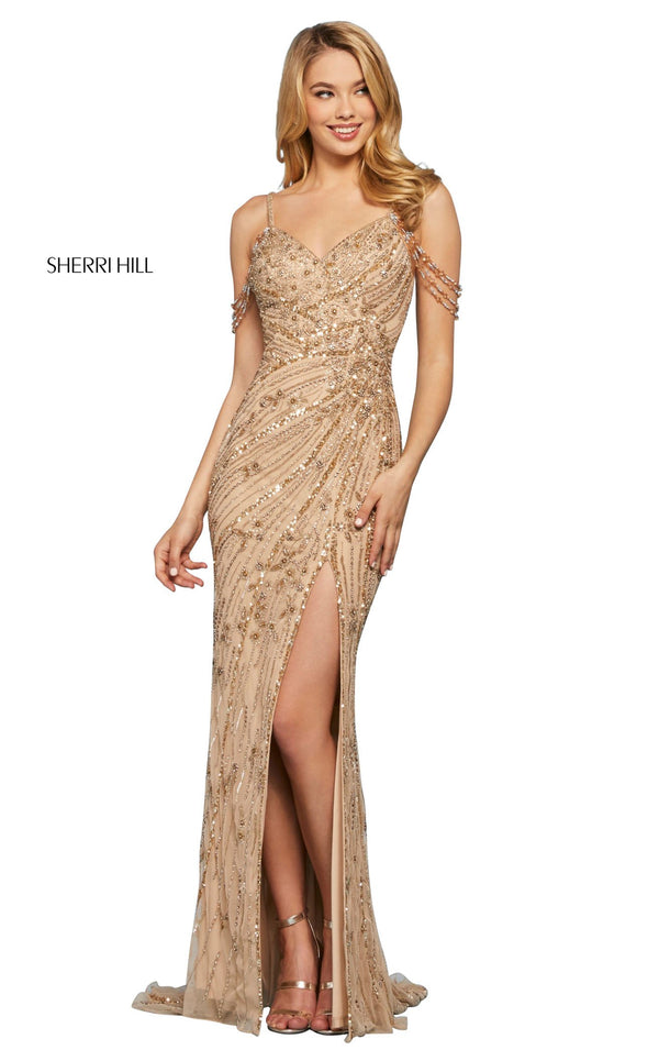 Sherri Hill 53610 Dress Gold
