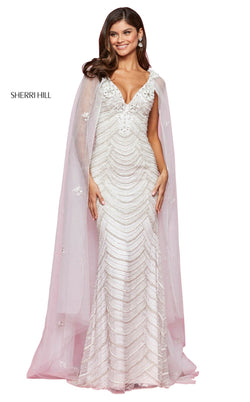 Sherri Hill 53612 Dress Ivory-Silver