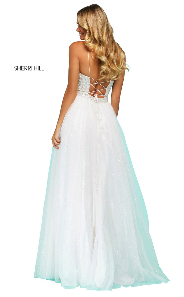 Sherri Hill 53618 Dress Ivory-Silver