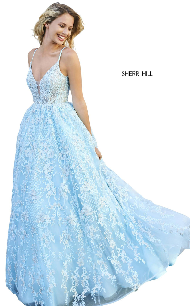 Sherri Hill 53625 Dress Aqua
