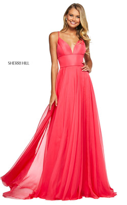 Sherri Hill 53634 Dress Coral