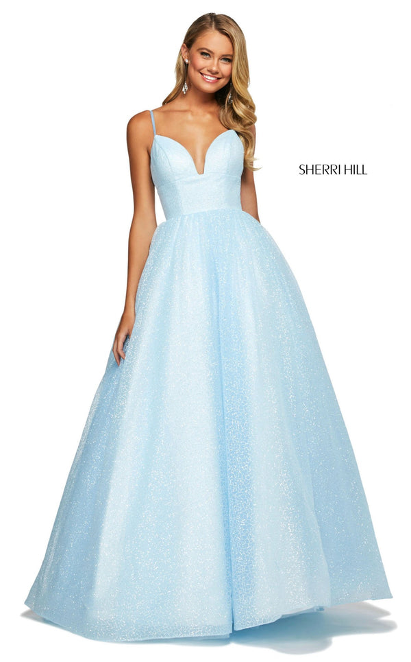 Sherri Hill 53665 Dress Light-Blue