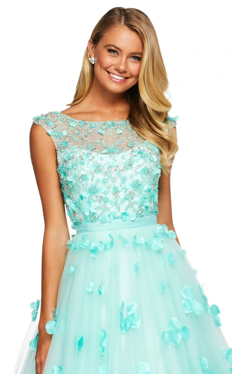 Sherri Hill 53684 Dress Aqua