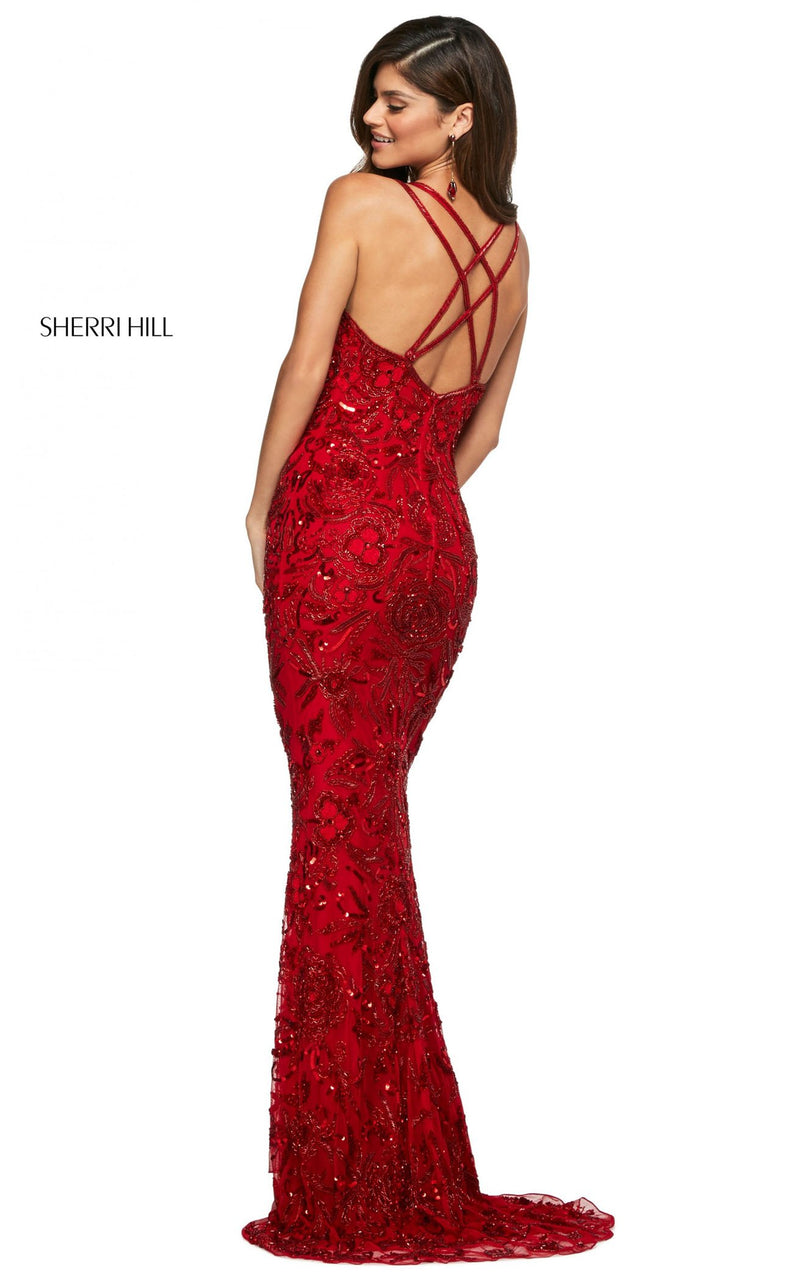 Sherri Hill 53689 Dress Red