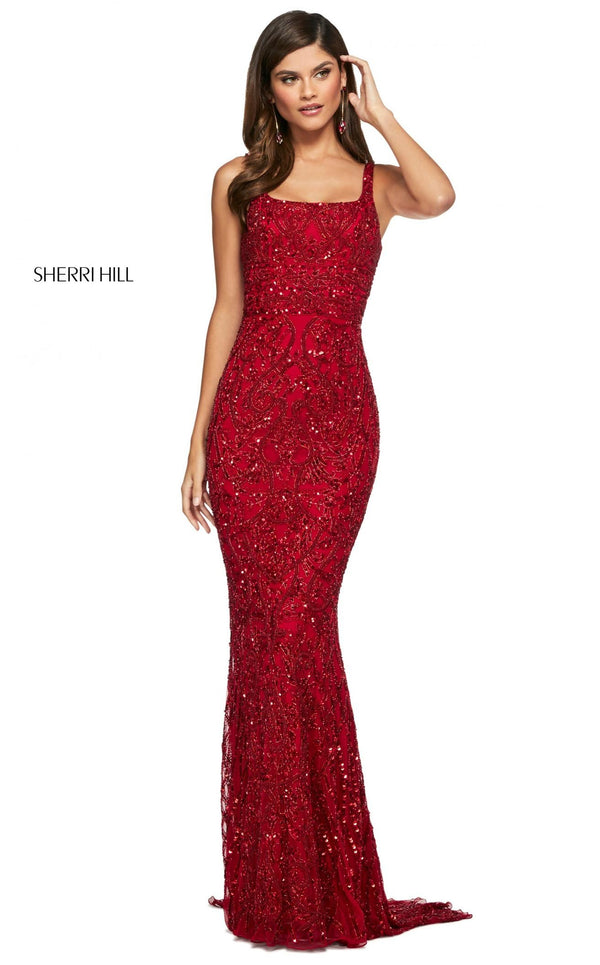 Sherri Hill 53691 Dress Red