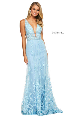 Sherri Hill 53695 Dress Light-Blue
