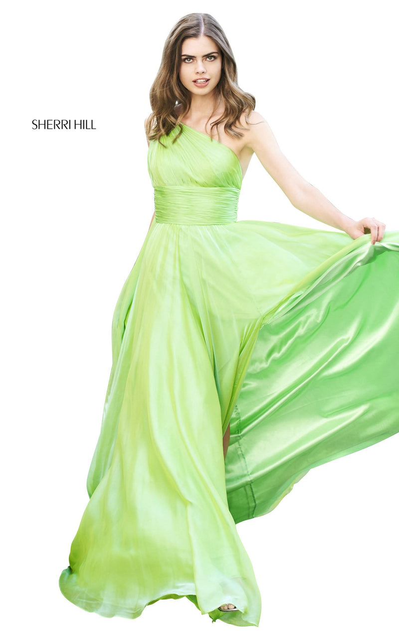 Sherri Hill 53698 Dress Green