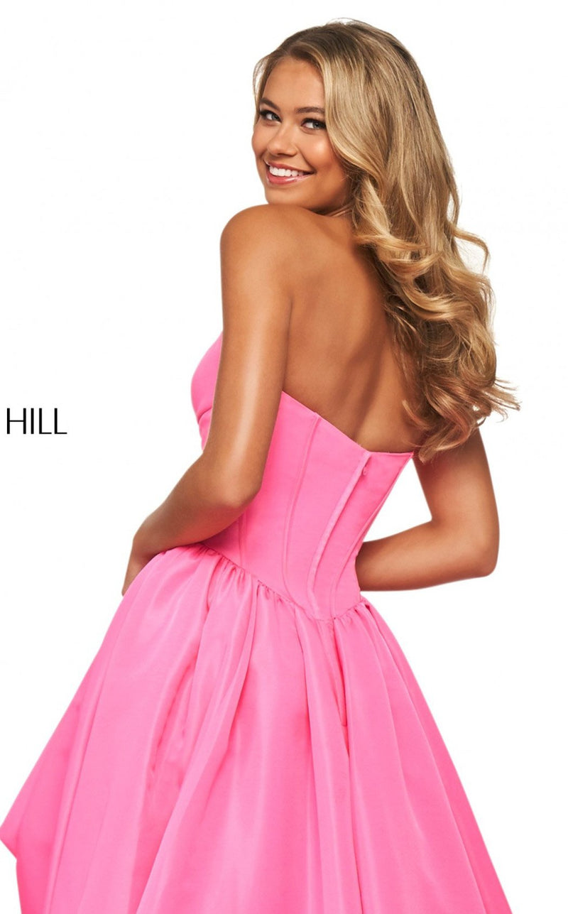 Sherri Hill 53719 Dress Bright-Pink