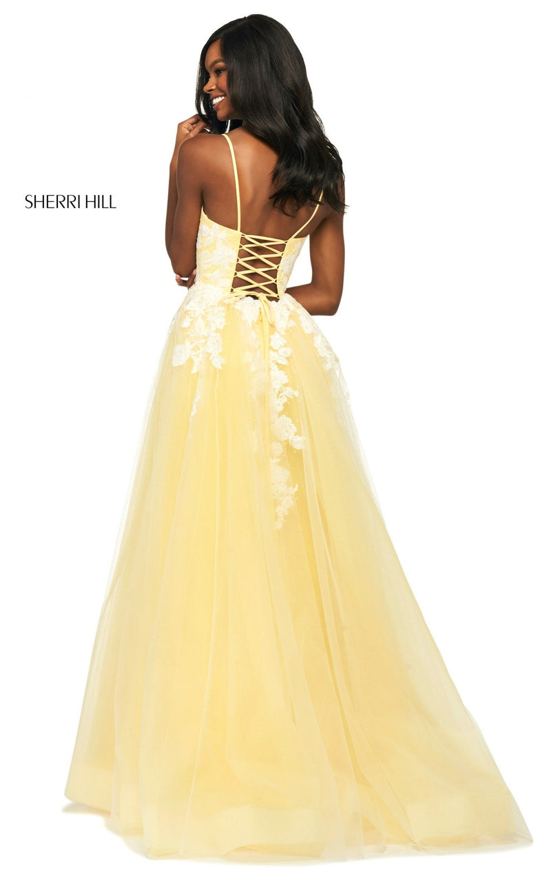 Sherri Hill 53730 Dress Light-Yellow-Ivory