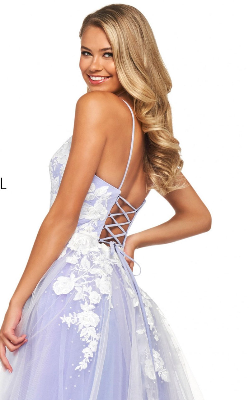 Sherri Hill 53730 Dress Lilac-Ivory