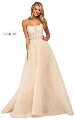 Sherri Hill 53731 Dress Light-Champagne