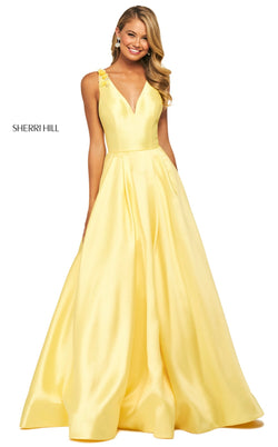 Sherri Hill 53732 Dress Yellow