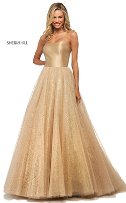 Sherri Hill 53747 Dress Gold