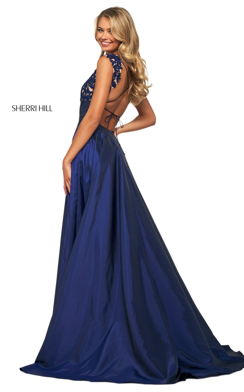 Sherri Hill 53767 Dress Navy